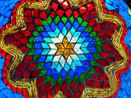 Az üvegmozaik rendkívül gyönyörű